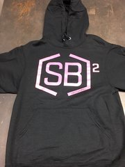 Pink and Black Pullover Hoodies