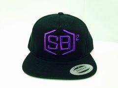 Purple on Black Snapback