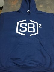 White and Navy Blue Pullover Hoodies