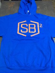 Orange and Royal Blue Pullover Hoodies