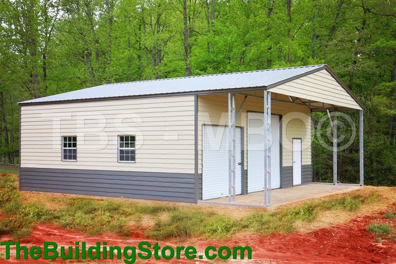 The building journal garages barns portable storage for 40x40 garage for sale
