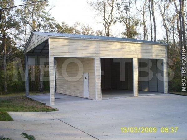 C25 vertical roof style combination garage 30x36x14 for 14 foot tall garage door