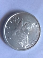 One Silver Eagle Ounce Fine Silver Bullion Round .999