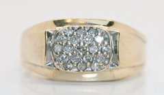 Estate Vintage Men's 10K Gold .25 TCW Diamond Ring - Size 10
