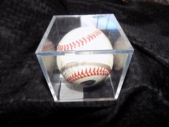 Hank Aaron Signed Rawlings Baseball Authentic in Plastic Cube