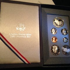 1991 United States Mint Proof Silver Prestige Mint Set