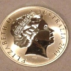 One Ounce Fyne Silver GEM Cameo Uncirculated $1.00 Coin from the Royal Australian Mint 2001