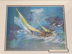 "Leroy Neiman ""Sailing"" Signed Lithograph"