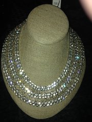 """alice + olivia BY STACEY BENDET Rhinestone """"Bib Style"""" Wide Ladies Necklace"""