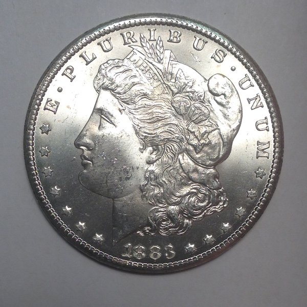 1883-CC Morgan Dollar MS63+
