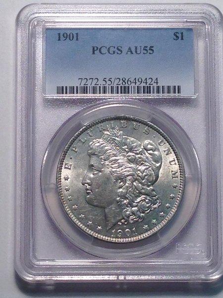 1901 Morgan Dollar PCGS AU55