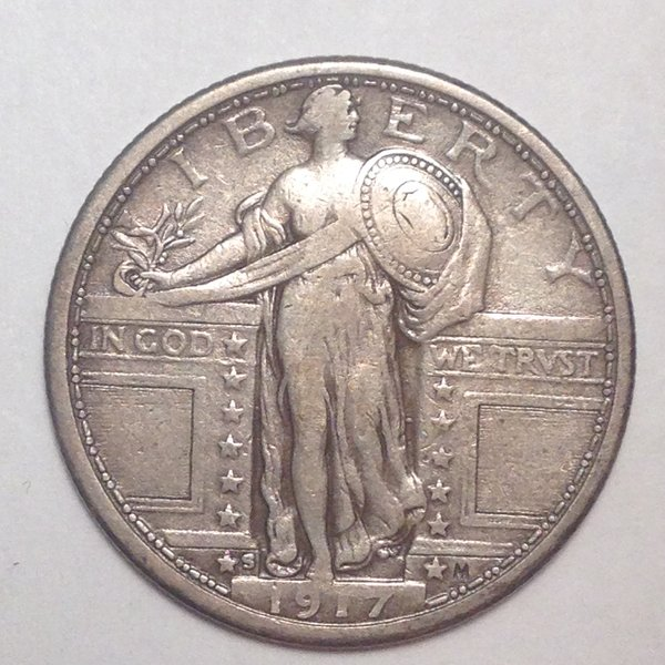 1917-S T1 Standing Liberty Quarter VF35
