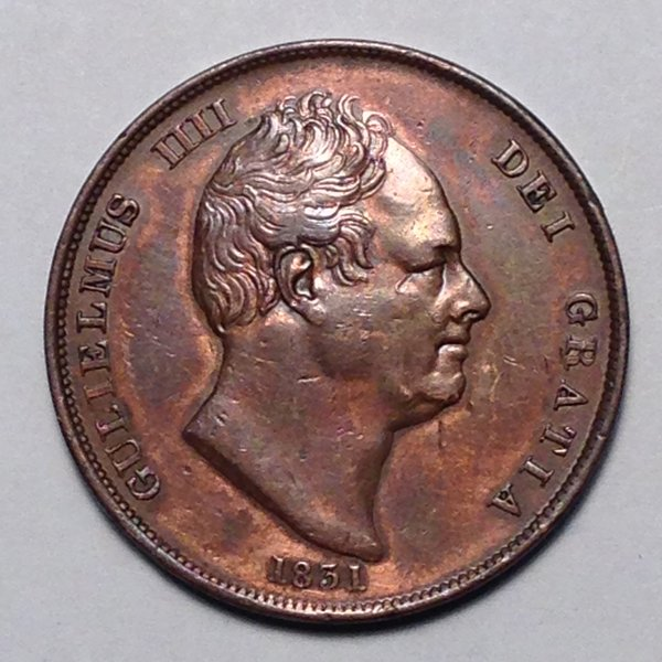 1831 William IV Penny Gr. Brit. XF+