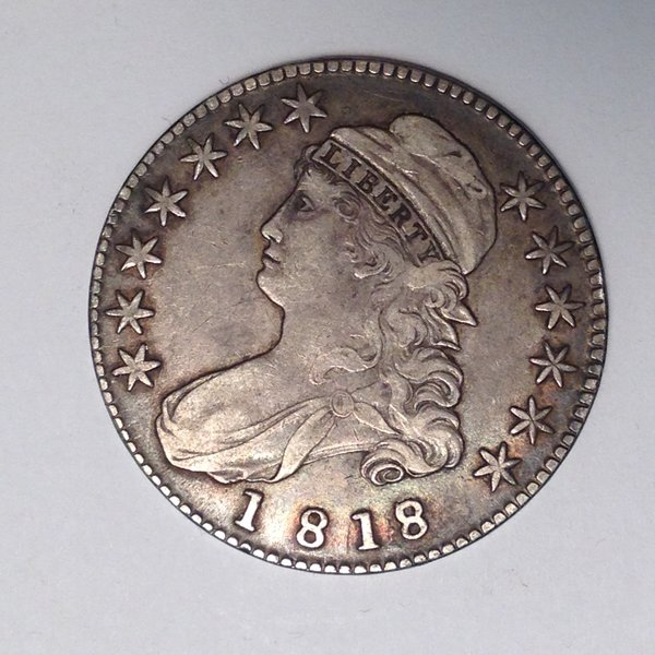 1818/7 Sm 8 Capped Bust Half Dol. XF