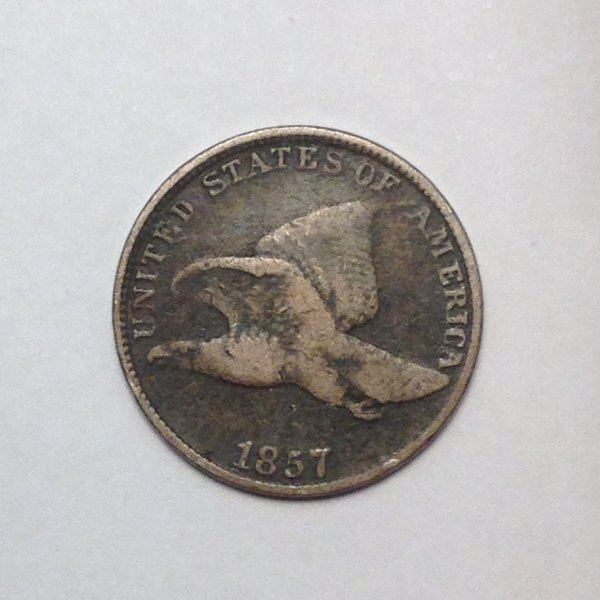 1857 FLYING EAGLE CENT. VG