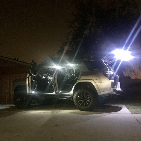 2010 2018 toyota 4runner interior lighting kit aiden - Toyota tacoma led interior lights ...