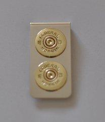 Vintage Federal Monark Double 20 Gauge Shotgun Shell Bullet Nickel Silver Money Clip Custom Made