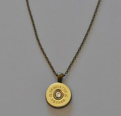 Remington Peters 12 Gauge Shotgun Shell Bullet Pendant Charm Swarovski Crystal With Necklace