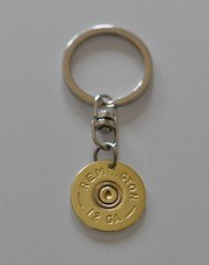 Remington 12 Gauge Shotgun Shell Bullet Keychain Keyring Brass Custom Made in the USA