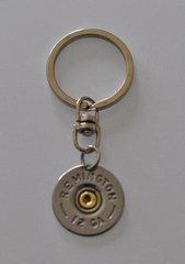 Remington 12 Gauge Shotgun Shell Bullet Keychain Keyring Nickel Plate Custom Made in the USA