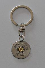 Winchester 12 Gauge Shotgun Shell Bullet Keychain Keyring Nickel Plate Custom Made in the USA