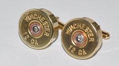 Winchester 12 Gauge Shotgun Shell Bullet Cufflinks Custom Made in the USA