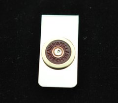 Baschieri & Pellagri 12 Gauge Shotgun Shell Bullet Nickel Silver Money Clip Custom Made