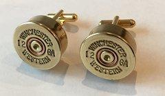 Vintage Winchester Western 12 Gauge Shotgun Shell Bullet Cufflinks Custom Made in the USA