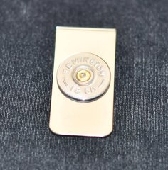 Remington 12 Gauge Shotgun Shell Bullet Nickel Money Clip Nickel Silver Custom Made in the USA