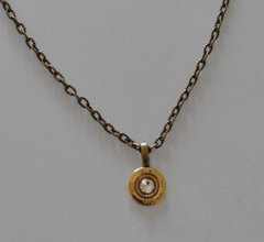 Remington Peters 410 Gauge Shotgun Shell Bullet Pendant Swarovski Crystal With Bronze Brass Necklace