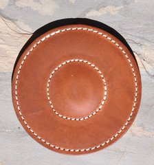 Shotgun Leather Magnetic Barrel Rest Pad for Trap Shooting, Skeeting Shooting, Sporting Clays Custom Made in the USA
