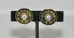 Remington 12 Gauge Shotgun Shell Bullet Earrings Swarovski Crystal Custom Made in the USA
