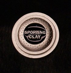 Sporting Clays Shooting Clay Pigeon Pewter Pin Custom Made in the USA