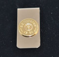 Remington 12 Gauge Shotgun Shell Bullet Money Clip Nickel Silver Custom Made in the USA