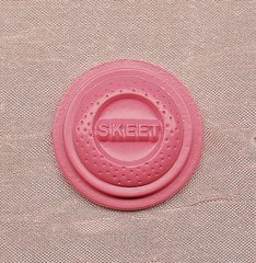 Trap & Skeet Shooting Clay Pigeon Pewter Pin Cap Pin (Pink) Custom Made in the USA