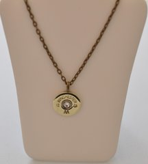 Winchester AA 12 Gauge Shotgun Shell Pendant Charm Bronze Brass Finish Necklace Swarovski Crystal