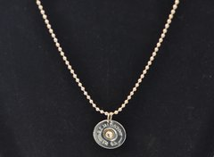 Remington 12 Gauge Nickel Shotgun Shell Bullet Pendant Charm with Silver Plate finish Necklace Swarovski Crystal