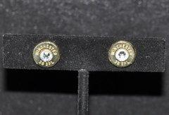 Winchester 38 Special Bullet Shell Casing Earrings Sterling Silver 925 Post & Backs Custom Made Swarovski Crystals