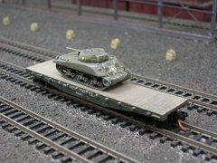 M4 Sherman Medium Tank (Cast Hull) on US Army Transportation Corp Flat Car