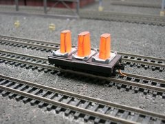 N Scale 20' Mill Car w/ 3 Hot Ingots