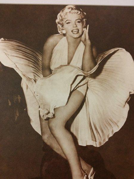 Marilyn Monroe Vintage Print Poster 7 Yr Itch Autographd