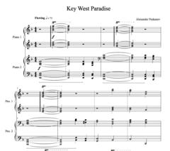 Key West Paradise (4-Hands)  - Sunshine Suite