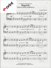 Bagatelle (Tribute to Beethoven) e-Print