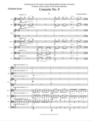 Piano Concerto No. 9 (Orch. Score & Parts) e-Print