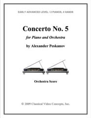 Piano Concerto No. 5 (Orch. Score & Parts)