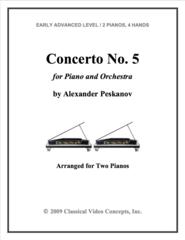 Piano Concerto No. 5  (Arranged for 2 Pianos)