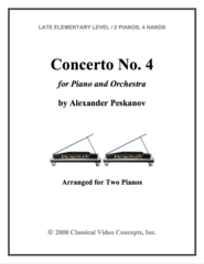 Piano Concerto No. 4  (Arranged for 2 Pianos)