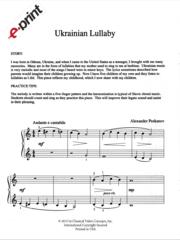 Ukrainian Lullaby (e-Print)