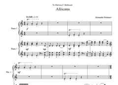 Africana (2 Pianos, 4 Hands) e-Print