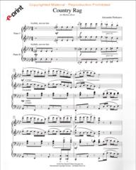 Country Rag (2 Pianos, 4 Hands) e-Print
